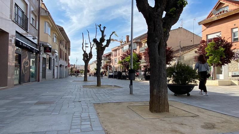calle peatonal en Torrelodones