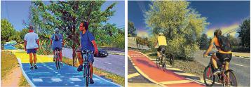 imagen de vecinos de Torrelodones en bicicleta